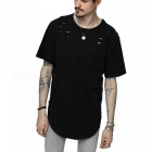 Casual Loose Style Men's T-Shirt - Black (M)