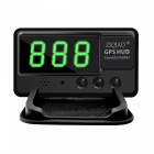 ZIQIAO Universal HID Head-Up Display GPS Compteur de vitesse - Noir