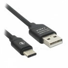 Universal Type-C till USB Speed ​​Charge Data Cable för HuaWei - Svart