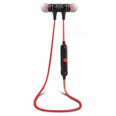 AWEI A920BL Sport Bluetooth Magnetic In-Ear Earphone with Mic - Red