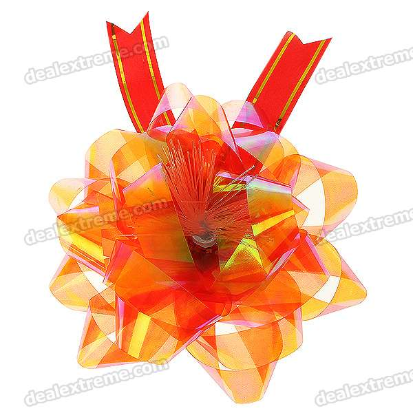 Charming Colorful LED Flashing Light Flowers - Golden + Red (6-Pack/1*CR2032)