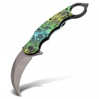 Multi-Function Outdoor Camping Folding Knife - Green
