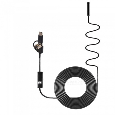 BLCR 3-in-1 7mm 6-LED Waterproof USB Type-C Android PC Endoscope (10m)