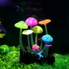 Saim Aquarium Decorative Silicone Fluorescent Mushroom