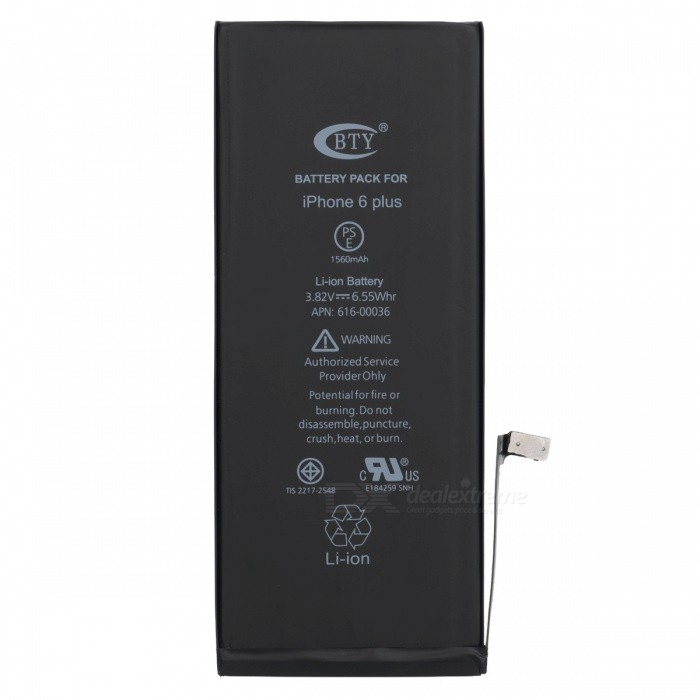 BTY Replacement 2950mAh Li-ion Battery for IPHONE 6 PLUS - Black