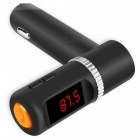 BC08B High Current Car Charger, Dual USB, Total Output 5V 4.2A - Black