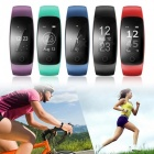 ID107 Plus HR Heart Rate Monitor Smart Bracelet Wristband - Black