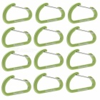 NatureHike 4cm Type-D Alloy Quick Release Buckles - Green (12 PCS)