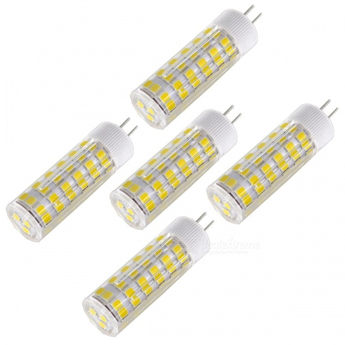 SZFC 5Pcs 6W AC DC-12V G4 Warm White 3000k Ceramic Lamps