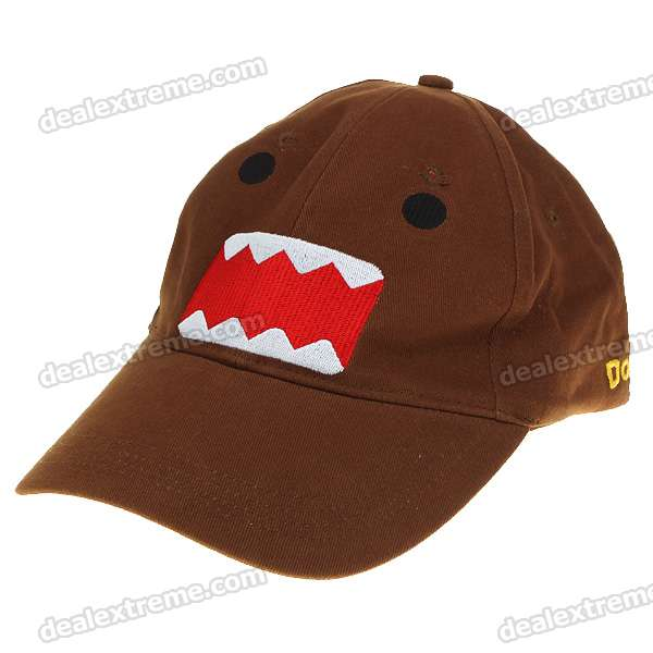Trendy Domo Pattern Hat/Cap - Coffee