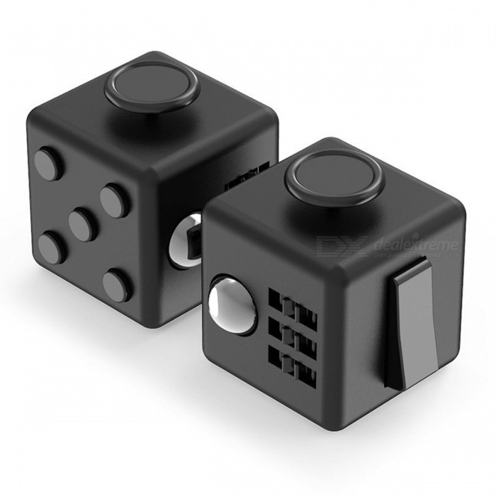 Anti-anxiety Stress Releasing Cube Toys for Children - Black (2PCS)Finger Toys<br>Form  ColorBlackMaterialABSQuantity1 setSuitable Age 3-4 years,5-7 years,8-11 years,12-15 years,Grown upsPacking List2 x Fidget cubes<br>