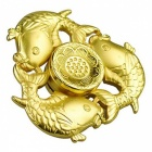 OJADE Three Fish Hand Spinner Fidgets Fingertip Gyro Toy - Golden