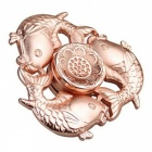 OJADE Three Fish Hand Spinner Fidgets Fingertip Gyro Toy - Rose Golden