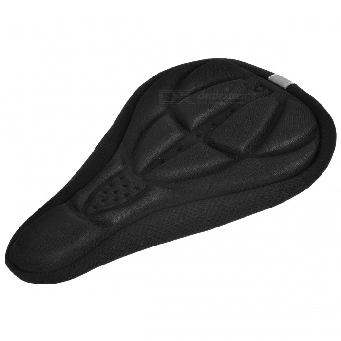Outdoor Cycling Bicycle 3D Rubber Seat Cushion - BlackBike Accessories<br>Form  ColorBlackQuantity1 pieceMaterialSlip proof fabric + cushion cottonTypeOthers,Seat cushionGenderUnisexBest UseCyclingPacking List1 x Cushion<br>