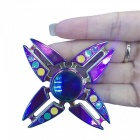 OJADE Colorful Metal 4-Crab Luminous Hand Spinner Fingertips Gyro Toy