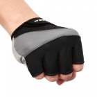 WOSAWE Unisex Anti-slip Half-Finger Gloves for Cycling - Black (L)