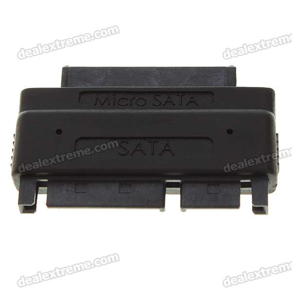 SATA 22-Pin Male To Micro SATA 16-Pin Female Power Adapter sata 22 pin male to micro sata 16 pin female power adapter