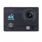 170 Degree Wide Angle 4K Ultra HD 1080P Wi-Fi Action Camera - Black
