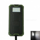 Ismartdigi RT-1 6LED 8000mAh Waterproof Power Bank - Black, Green