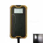 Ismartdigi RT-1 6LED 8000mAh Waterproof Power Bank - Black, Yellow
