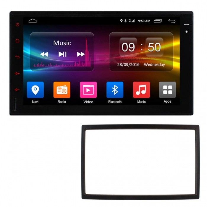 Ownice C500 Android Smart 7 Quad-Core GPS Navigation Car DVD PlayerCar DVD Players<br>Form  ColorBlack (with Old VW Frame)ModelOL-7001G+ FrameQuantity1 pieceMaterialABSStyle2 Din In-DashFunctionGPS,Subwoofer Output,Radio,Steering Wheel ControlCompatible MakeVW,UniversalCompatible Car Modelold VWCompatible Year1998,1999,2000,2001,2002,2003,2004,2005,2006Screen Size7.0 inchesScreen Resolution1024 * 600Touch Screen TypeYesDetachable PanelNoBrightness ControlYesMenu LanguageEnglish,French,German,Italian,Spanish,Portuguese,Russian,Vietnamese,Polish,Greek,Danish,Norwegian,Dutch,Arabic,Turkish,Japanese,Bahasa Indonesia,Korean,Thai,Maltese,Hungarian,Latin,Persian,Malay,Slovak,Czech,Greek,Romanian,Swedish,Finnish,Chinese Simplified,Chinese Traditional,Bulgarian,Norwegian,HebrewCPU ProcessorMT3562 1.2GHzSupport MapIGO,TOMTOM,Sygic,CarelandMain FrequencyOthers,1248 GHzStore CapacityOthers,32 GBGPS Dual ZoneYesOperating SystemOthers,Android 6.0Audio FormatsMP3,WMA,FLAC,AAC,OthersVideo FormatsRMVB,AVI,MKV,MOV,MP4,FLV,MPEG,Others,H.265Picture FormatsJPEG,BMP,PNG,GIFStation Preset Qty.18Support RDSNoRadio Response BandwidthAM: 520KHz-1700KHz,FM: 87MHz-110MHzRDSYesRadio TunerAM,FMBuilt-in MicrophoneYesBluetooth FunctionReceived Call,Dialled Call,Missed CallBluetooth VersionBluetooth V4.0Video OutputNTSCAmplifier Peak Power4 * 45 WAudio ModeNatural,Rock,Jazz,Classical,Live,Dancing,PopularAudio Input2 channelsAudio  Output4 channelsRearview Camera InputYesExternal Memory Max. Support32 GBVideo Input2 channelsVideo Output2 channelsWorking Voltage   DC+10.8V--14.4 VWorking Temperature-20 -- +70 ?Storage Temperature-40-- +80CCertificationCE, FCCPacking List1 x Car DVD Player1 x ISO Power Cable (18cm)1 x GPS Antenna (210cm)1 x RCA Cable (16cm)2 x 4G antennas1 x 188*115mm frame<br>