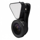 3 in 1 Optical Glass Lens HD Wide-angle Lens Macro-lens - Black
