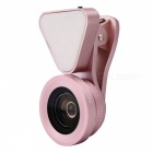 3 in 1 Optical Glass Lens HD Wide-angle Lens Macro-lens - Rose Golden