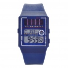 Solar Power 30M Waterproof Watch with Date Display/Stopwatch/Alarm Clock - CR2016/3V (Blue)