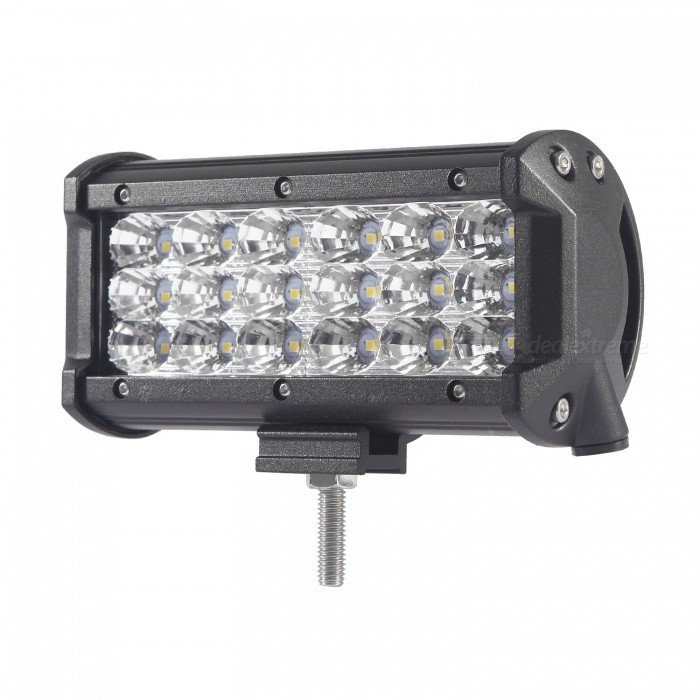 MZ 6.5 Tri-Row 54W 5400LM Bar Flood LED Work Light for Off-roadOff-Road Lights<br>Color BIN54W FloodModelTri-Row-54W-FQuantity1 pieceMaterialAluminumForm  ColorBlackEmitter TypeLEDChip BrandCreeChip TypeN/ATotal EmittersOthers,18PowerOthers,54WColor Temperature6000 KTheoretical Lumens6480 lumensActual Lumens5400 lumensRate Voltage10-30V DCWaterproof FunctionYesConnector TypeOthers,WiredApplicationHeadlamp,Foglight,Roof light,Daytime running lightConnectorOthers,-ApplicationOthers,Work LightColor BIN54W FloodPacking List1 x LED Work Light<br>