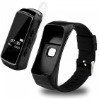 Bluetooth Smart Bracelet Watch Phone for IOS, Android - Black