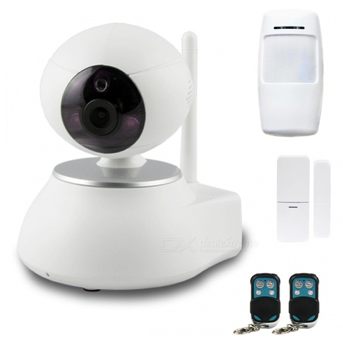 AG-security Wireless IP Camera Alarm Security System - White (EU Plug)