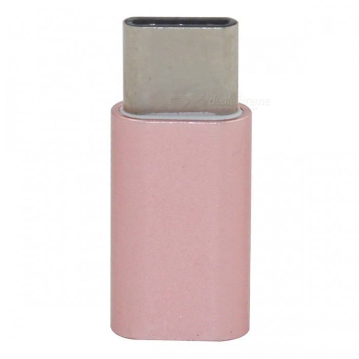 Mini Smile USB 3.1 Type-C to Micro USB Data Adapter - Rose Golden
