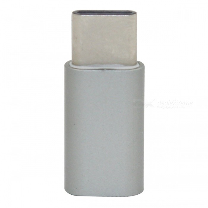 Mini Smile USB 3.1 Type-C to Micro USB Data Adapter - Iron Grey