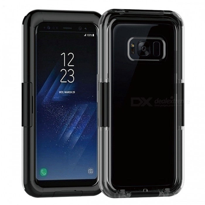 IP68 100% Waterproof Cover Case for Samsung Galaxy S8 - BlackWaterproof Cases<br>Form  ColorBlackQuantity1 pieceMaterialHard PlasticShade Of ColorBlackWaterproof LevelOthers,IP68Compatible ModelsSamsung Galaxy S8Suitable forCamping,Boating,Fishing,Swimming,Rainy DaysTouch Control via CaseYesPacking List1 x Waterproof case<br>