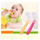 Soft Tip Silicone Baby Spoon Feeding Elbow Spoon, Non-Slip, No BPA
