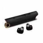 TWS S2 Mini Bluetooth Stereo Music Earphone Built-in Mic - Black