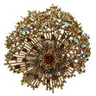 Charming Crystal Alloy Brooch - Golden