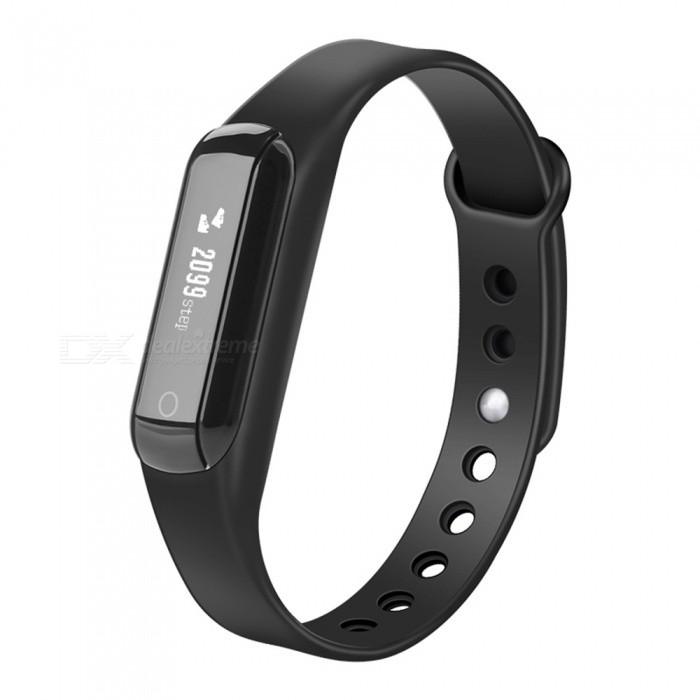 Eastor C3 Bluetooth Smart Bracelet with Heart Rate Monitor - Black