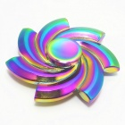 Spinning Flower Shape Zinc Alloy ADHD Fidget Spinner - Colorful