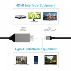 MHL USB3.1 Type-C to HDMI 4K HD Cable Adapter - Black (2m)