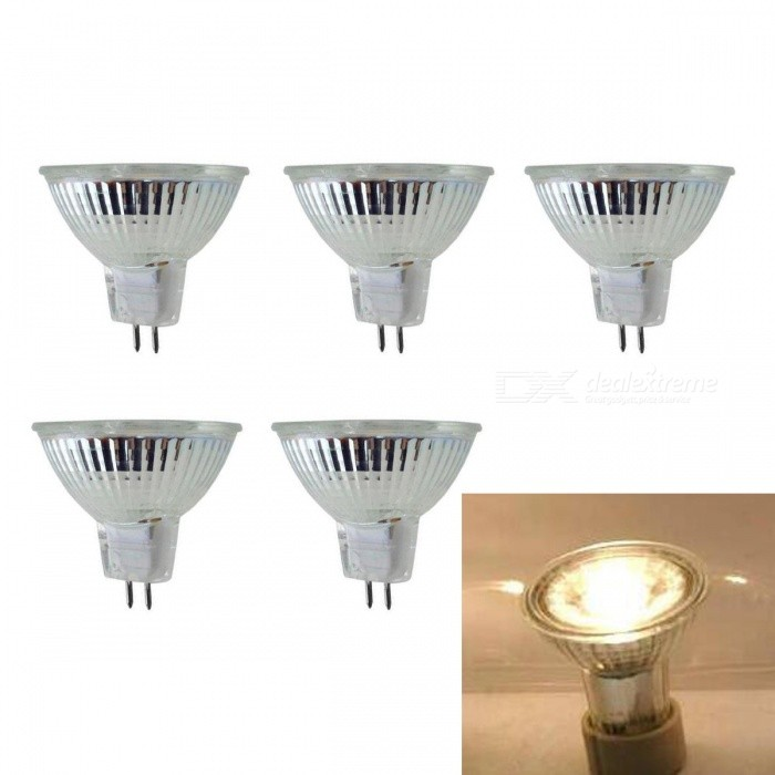 JRLED MR16 5W Warm White COB LED Spotlights (5 PCS)