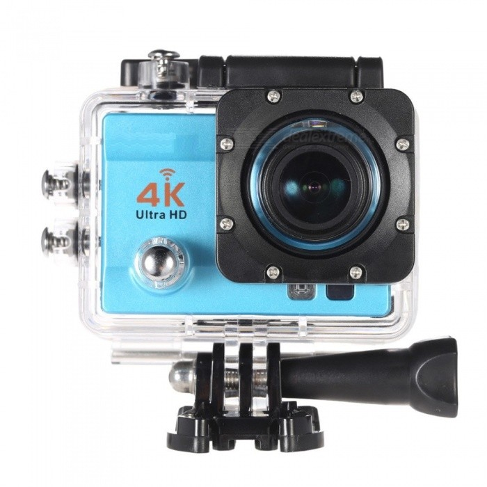 170 Degree Wide Angle 4K Ultra HD 1080P Wi-Fi Action Camera - BlueSport Cameras<br>Form  ColorBlue + BlackShade Of ColorBlueMaterialABSQuantity1 setImage SensorOthers,16MP CMOS SensorImage Sensor SizeOthers,Compressed Format of Videos: H.264Anti-ShakeYesFocal DistancePhotographed function: Panoramic (5M/8M/12M/16M) cmFocusing RangePhotographed function: Panoramic (5M/8M/12M/16M)Effective Pixels4K 25fps, 2.7K 30fps, 1920*1080P 60fps, 1280*720p 60fps, 1280*720p 30fpsImagesJPGStill Image Resolution12M(4032 x 3024), 10M(3648 x 2736), 8M(3264 x 2448)/ 6M(2000 x 3000), 5M(2592 x 1994), 3M(2048 x 1536), 2MHD(1920 x 1080), VGA(640 x 480)VideoMOVVideo Resolution4K 25fps, 2.7K 30fps, 1920 x 1080P 60fps, 1280 x 720p 60fps, 1280 x 720p 30fpsVideo Frame Rate25,30,60Cycle RecordYesISONoExposure CompensationOthers,(-3/-2/-1/0/+1/+2/+3)Supports Card TypeSDSupports Max. Capacity32 GBLCD ScreenYesScreen Size2.0 inchesBattery Measured Capacity 900 mAhNominal Capacity900 mAhBattery included or notYesWater ResistantOthers,Comes with waterproof housing, supports up to 30 meters water resistant.Packing List1 x Motion Camera1 x Battery 11 x Mount Tools4 x Bandages2 x Adhesive tapes4 x Tether 1 x Metal Tether1 x Waterproof Housing1 x Protective Back1 x Power adapter1 x USB Cable1 x Clean Cloth1 x User Manual (English)<br>