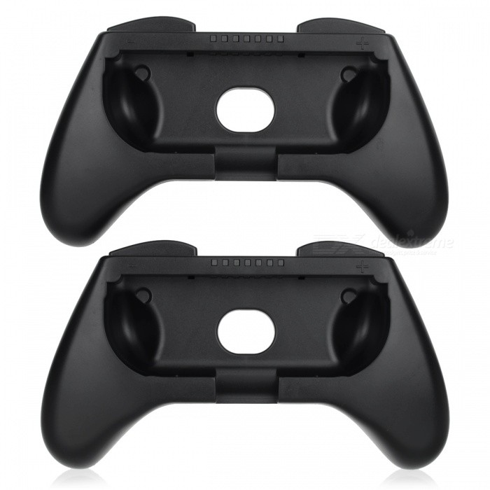 KJH  Small ABS Hand Grip Set for Switch Joy-Con - Black