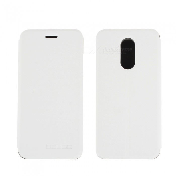 OCUBE PU Leather Flip-open Case for HOMTOM HT37 - White