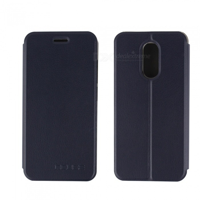 OCUBE PU Leather Flip-open Case for HOMTOM HT37 - Dark BlueLeather Cases<br>Form  ColorDeep BlueModelHOMTOM HT37 CaseMaterialPC+PUQuantity1 pieceShade Of ColorBlueCompatible ModelsHOMTOM HT37FeaturesAnti-slip,Dust-proof,Shock-proof,Abrasion resistance,Holder functionPacking List1 x Case<br>