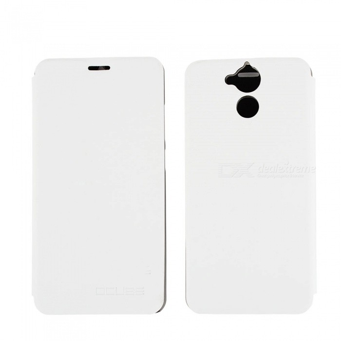 OCUBE PU Leather Flip-open Case for blackview P2 Lite - White