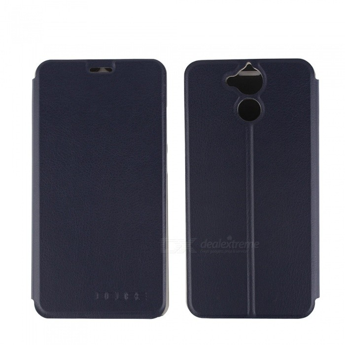 OCUBE PU Leather Flip-open Case for Blackview P2 Lite - Deep Blue
