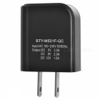 BTY M521F QC3.0 Quick Charge US Plugs Charger - Black