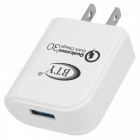BTY M521F QC3.0 Quick Charge US Plugs Charger - White