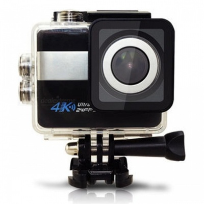 2.31 inch Touch Screen 4K Sports Action Camera with 16GB Memory -Black